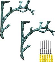 2 stuks plankdragers met schroeven in boomvorm, wandhouder, plankhouder, van metaal, multifunctioneel, voor woonkamer, bal...