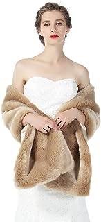 BEAUTELICATE Pelzimitat Schal Stola Bolero Damen Für Hochzeit Braut Brautjungfer Abendkleid Weihnachten Halloween Winter