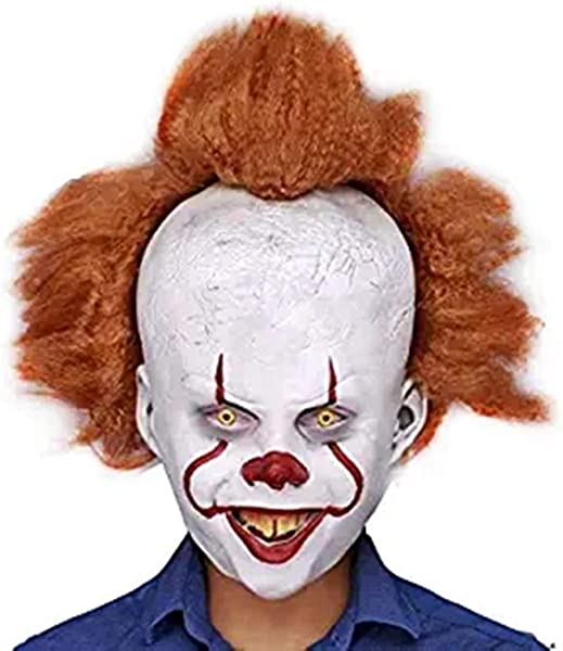 2019 It Clown Latex Mask Clown Pennywise Horror Halloween Cosplay Costume Props Clown Mask