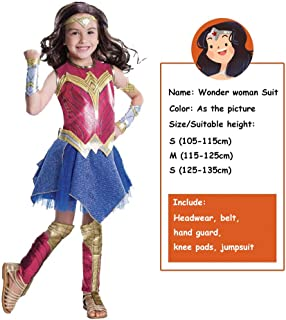 Wonder Woman Movie Cosplay Costume Suit Yourself Halloween Costume for Girls, Includes Accessories