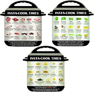 Busydd Instant Pot Accessories 3Pcs Cheat Sheet Diet Magnetic Magnet Cooking Schedule Times Food Cooking for Instant Pot