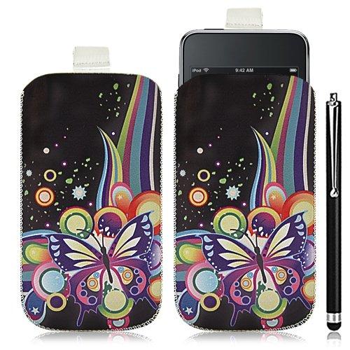 Funda con tapa para Apple iPod Touch 1G/2G/3G (incluye lápiz capacitivo), diseño HF05