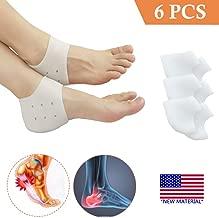 Heel Cups, Plantar Fasciitis Inserts, Heel Pads Cushion (3 Pairs) Great for Heel Pain, Heal Dry Cracked Heels, Achilles Tendinitis, for Men & Women. (Gel Heel Cups)