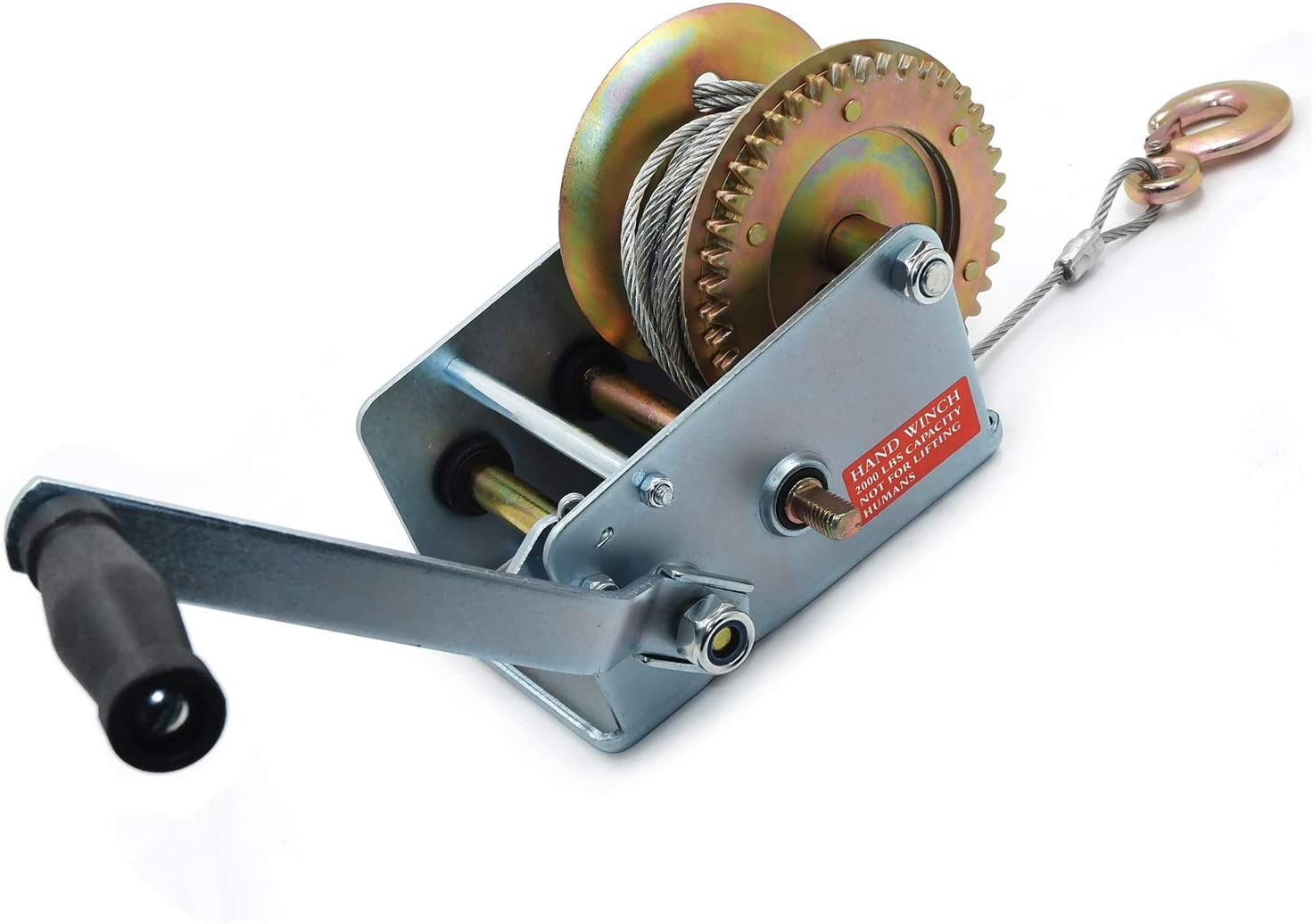 XKMT- Trailer Winch 2000Lbs Dual Towing Max Popular overseas 70% OFF Gear Boat Hand Tra