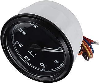Jeanoko Piezas de generador de 12 V / 24 V Suministros industriales Tacómetro eléctrico de Gama Alta 0‑3000 RPM para automóvil para generador de Motor para grabación de automóvil