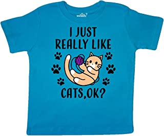 inktastic I Just Really Like Cats Ok Toddler T-Shirt