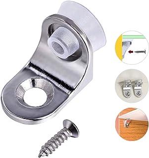 20 soportes para estantes de cristal con base de ventosa, soporte para estante con clavija para cocina y gabinetes