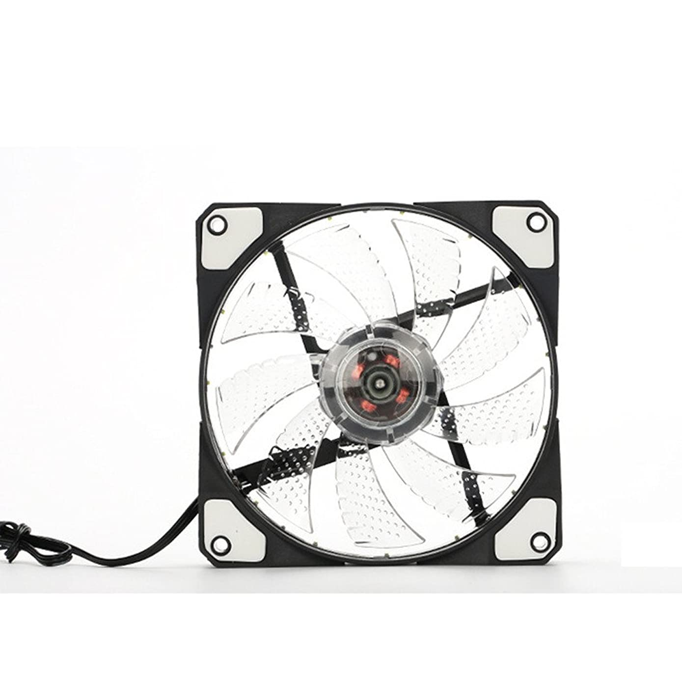 GOVOW-Tech 15 led Light Quite 120mm DC 12V 4Pin PC Computer Case Cooling Cool Fan Mod Standard Low Noise Case Fan - High Tensile Strength - Innovative Design