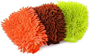 Blackzone 1Pc Car Wash Washing Microfiber Multi-Color Chenille Mitt Auto Cleaning Tool Dust Washer
