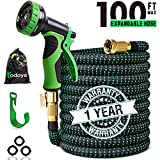 100 ft Expandable Garden Hose,100 Feet Leakproof Lightweight...