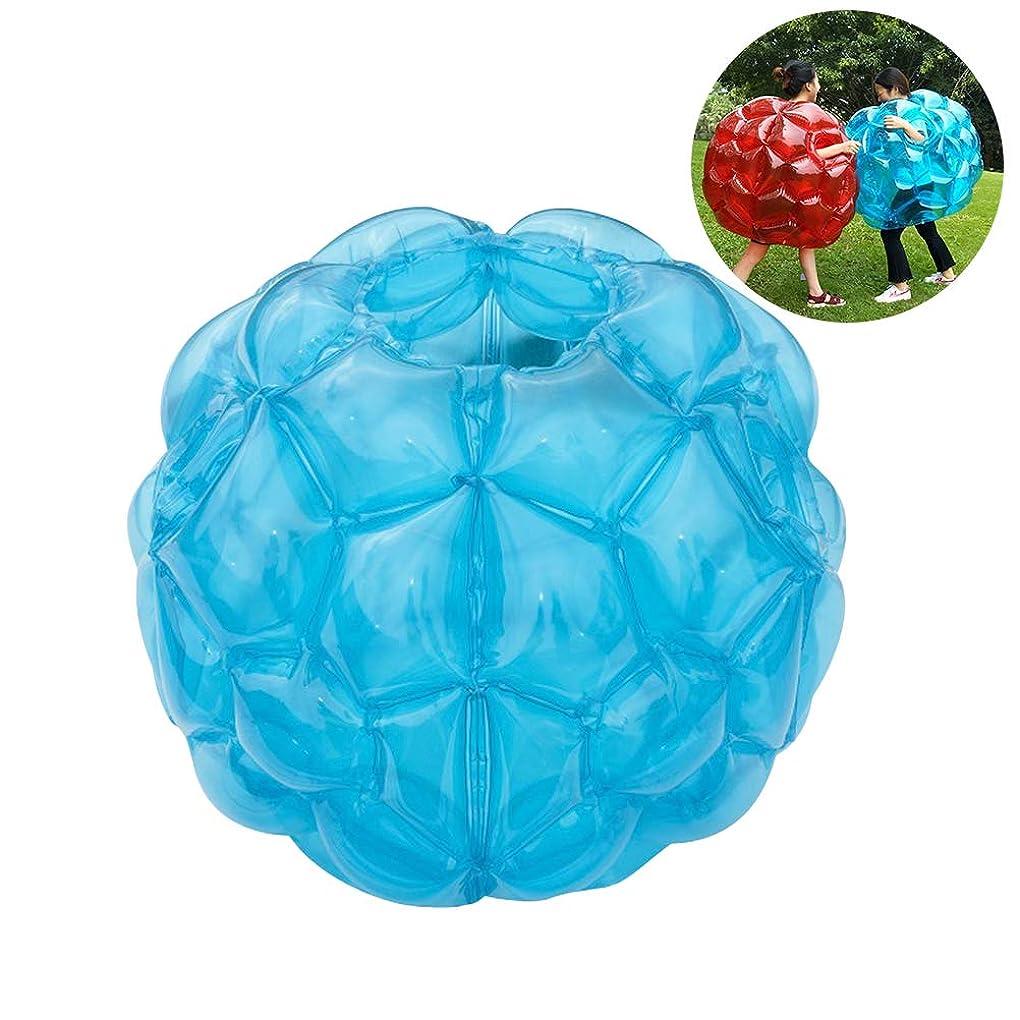 添付導出同封するWINOMO バンパーボール インフレータブル PVC 透明 バブルサッカー ゾービングボール 空気注入式 子供 大人 競技、イベント、レジャーに お誕生日、クリスマスプレゼント 60*60cm 1個(透明青)
