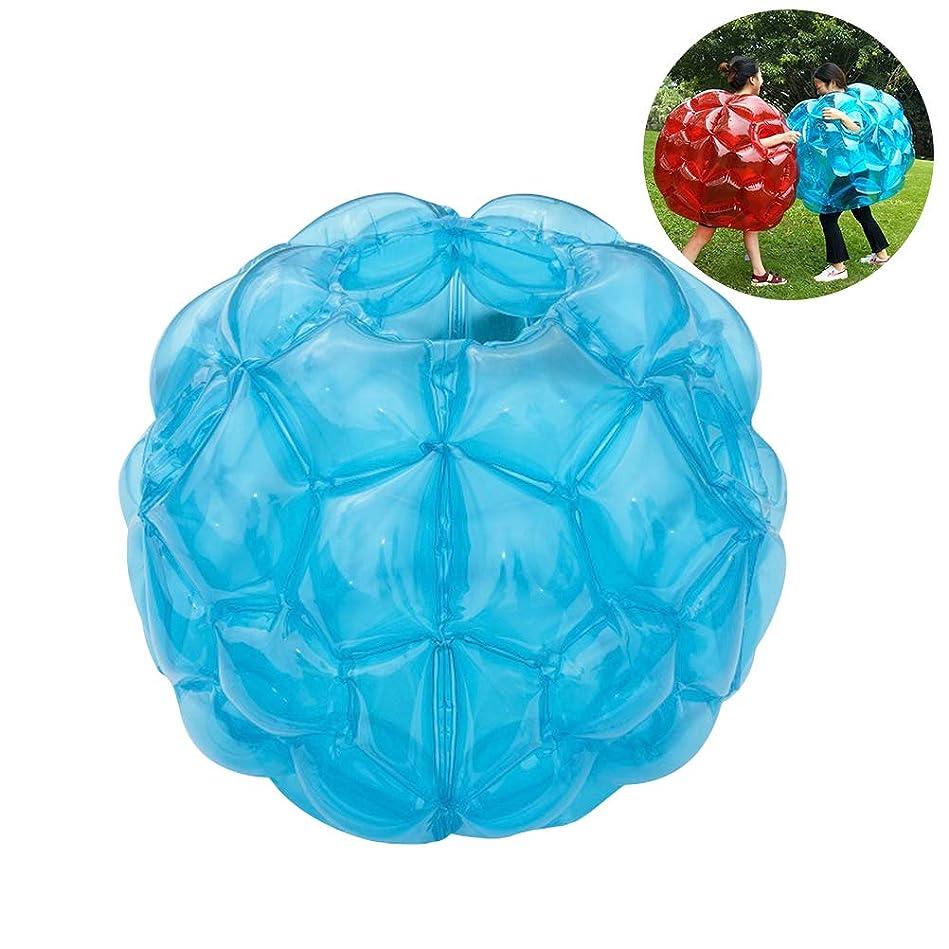 慎重になる事前WINOMO バンパーボール インフレータブル PVC 透明 バブルサッカー ゾービングボール 空気注入式 子供 大人 競技、イベント、レジャーに お誕生日、クリスマスプレゼント 60*60cm 1個(透明青)