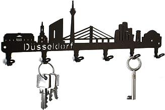 steelprint.de Schlüsselbrett/Hakenleiste * Skyline Düsseld