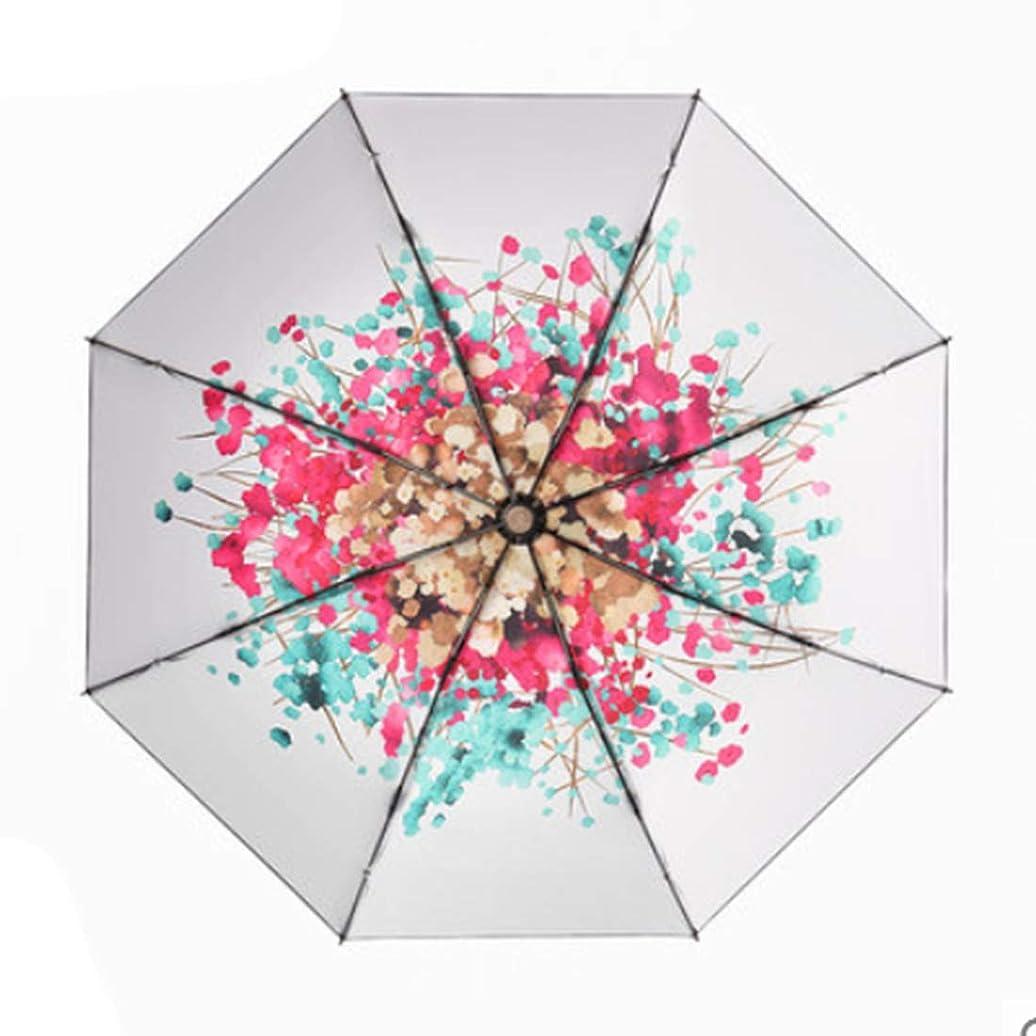 グリーンランドホステス連隊傘 女性のピンク折りたたみ日傘夏の紫外線保護屋外旅行傘ポータブル黒傘 (色 : ホワイト)