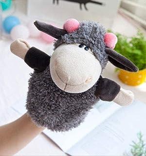 NC83 Hand Puppet Soft Plush Toy Elephant Lion Monkey Animal Plush Puppet Children's Gift 25 cm