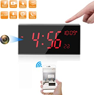 Hidden Camera -Spy Camera -WiFi Spy Camera - FHD 1080P Clock Camera More Than 33FT Night Vision with IR-Cut Support Motion Detcetion 160 Degree Angle Multiple Use for Home/Office (Updated Version)