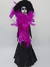 COLOR Y TRADICIÓN Mexican Catrina Doll Day of Dead Skeleton Paper Mache Dia de Los Muertos Skull Folk Art Halloween Decoration # 1562