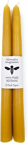 discount Alternative Imagination 100% Pure Beeswax Candle Tapers - Package of 2 wholesale new arrival (10 Inch) outlet sale