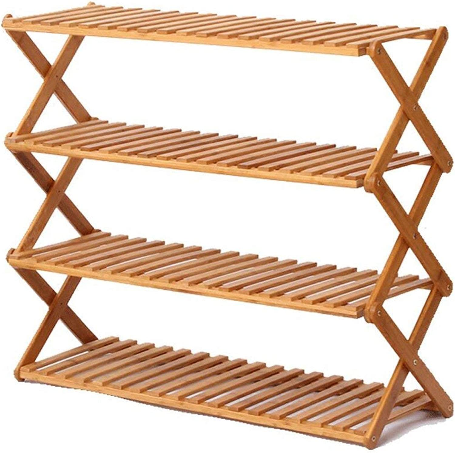 Gifts & Decor Plant Stand Shelf Flower Racks Solid Wood Flower Stand fold Plant Stand Indoor Balcony Flower Stand Multi-Layer Floor Shelf Three-Dimensional Flower Stand (Size   X-Large)