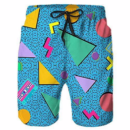 Men's Memphis 80s Pattern Shorts