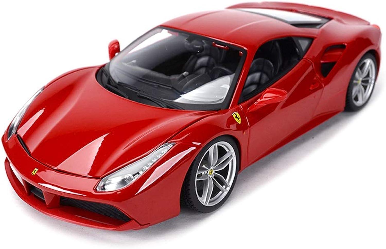 ahorrar en el despacho Gflyme Diecast Coche Modelo 1 18 Escala Ferrari 488 488 488 GTB Roadster, Altamente detallado Modelo de Coche clásico Decoración Simulación Aleación Modelo de Coche Juguete, 26x11.3x6.2CM (Color   rojo A)