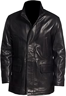 VearFit Mens Handro Trench Winter Coat Real Lambskin Leather Jacket Plus Size
