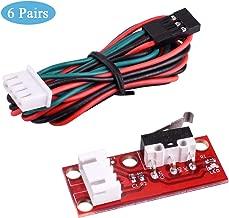 Nopson 6PCS Interruptor final de carrera mecánico con cable para la impresora RepRap 3D Makerbot Prusa Mendel CNC Arduino Mega 2560 1280 RAMPAS 1.4