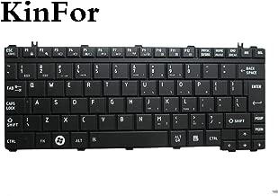 Laptop Keyboard for Toshiba Satellite U400 U405 Portege M800 US Matte Black + Clear Protector Cover