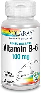 Solaray Vitamin B-6 100mg   60 VegCaps