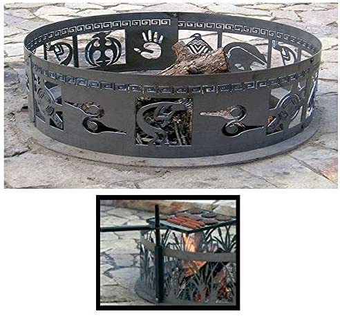 PD lowest price Metals New mail order Steel Campfire Fire Design Unpain - Native Ring