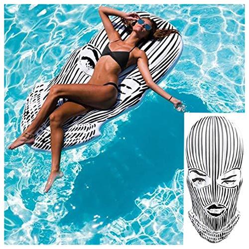 SYMX Piscinas Hinchables, Inchables Piscina, Hinchable colchonetas Piscina Inflable Gigante 180 cm para Juguete Piscina Anillo de la natación Playa flotación Adultos Juguetes de Agua Verano Fiesta