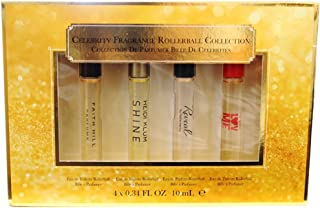 Coty Celebrity Fragrances Rollerball Collection 4 Piece Gift Set for Women, 0.34 Ounce
