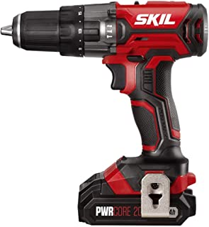 SKIL 20V 1/2 Inch Hammer Drill, Includes 2.0Ah PWRCore 20 Lithium Battery and Charger - HD527802
