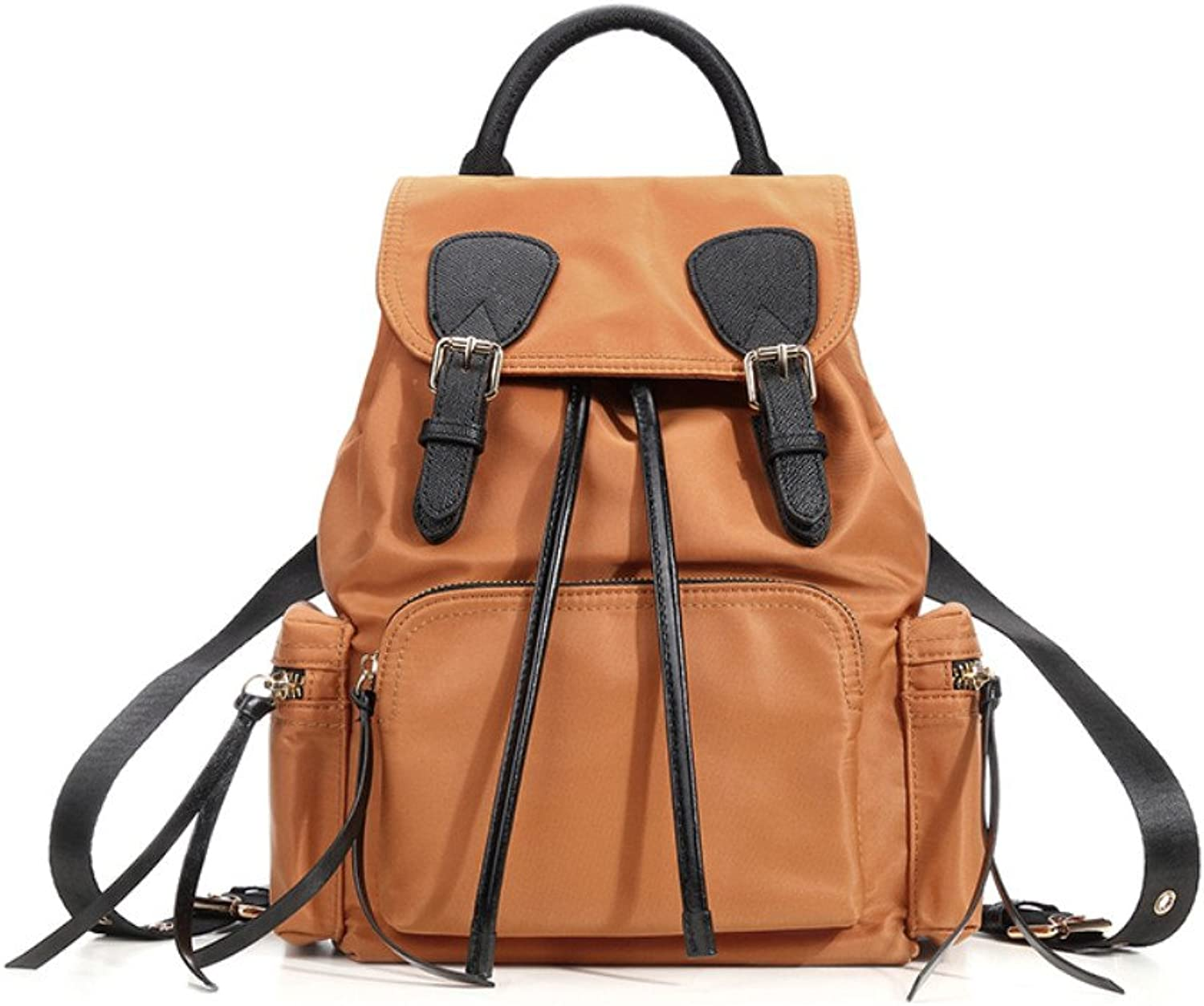 Backpack Female All-Match Oxford Cloth Mini Backpack Fashion Leisure Travel Bag,Brown