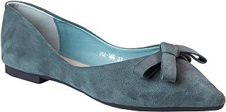 C.PARAVANO Opvouwbare platte ballerina's voor dames, ballerina's, strik, instapschoenen