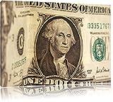 Geldschein Dollar Format: 100x70 auf Leinwand, XXL riesige
