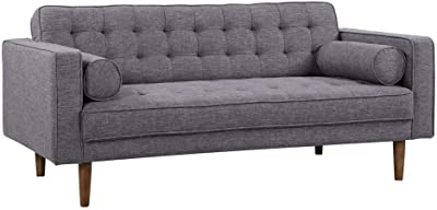 Amazon.com: Sunpan Modern Donnie Sofa, Dark Grey Fabric ...