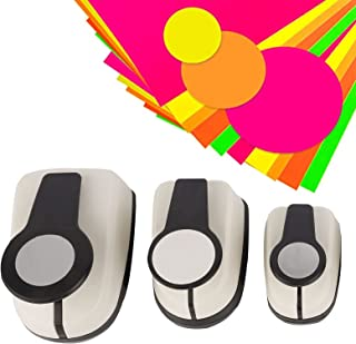 Paper Craft Punches-Hole Puncher Single,Hole Punch Shapes, Hole Puncher For Crafts, Circle Punch,Set of 3pcs Circle Paper ...
