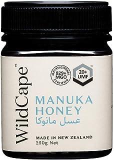 WildCape UMF Certified 20+ East Cape New Zealand Manuka Honey, 250g