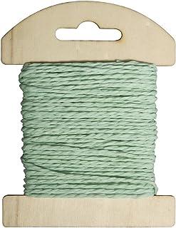 Rayher 55352408 Papier Kordel, 1,2mm ø, auf Holzkarte, 10m, mintgrün