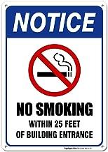no smoking sign stand