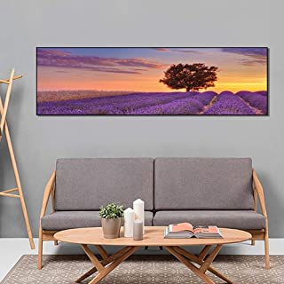 ZYL-YL Big Tree Creative Nordic Decorative Painting Canvas Painting Core Abstract Handmade Oil Painting 40cm*160cm Art cla...