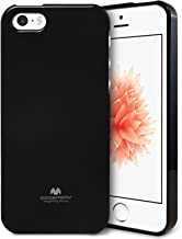 Goospery Pearl Jelly for Apple iPhone SE Case (2016) iPhone 5S Case (2013) iPhone 5 Case (2012) Slim Thin Rubber Case (Black) IP5-JEL-BLK