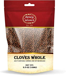 Whole Cloves 3.5 Oz Bag - Great for Foods, Tea, Pomander Balls, and even Potpourri - by Spicy World