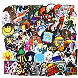 One Piece Anime Stickers 100pcs Japanese Cartoon Anime Stickers Waterproof Vinyl Aesthetic Stickers for Laptop Water Bottle Skateboard Snowboard Luggage Guitar