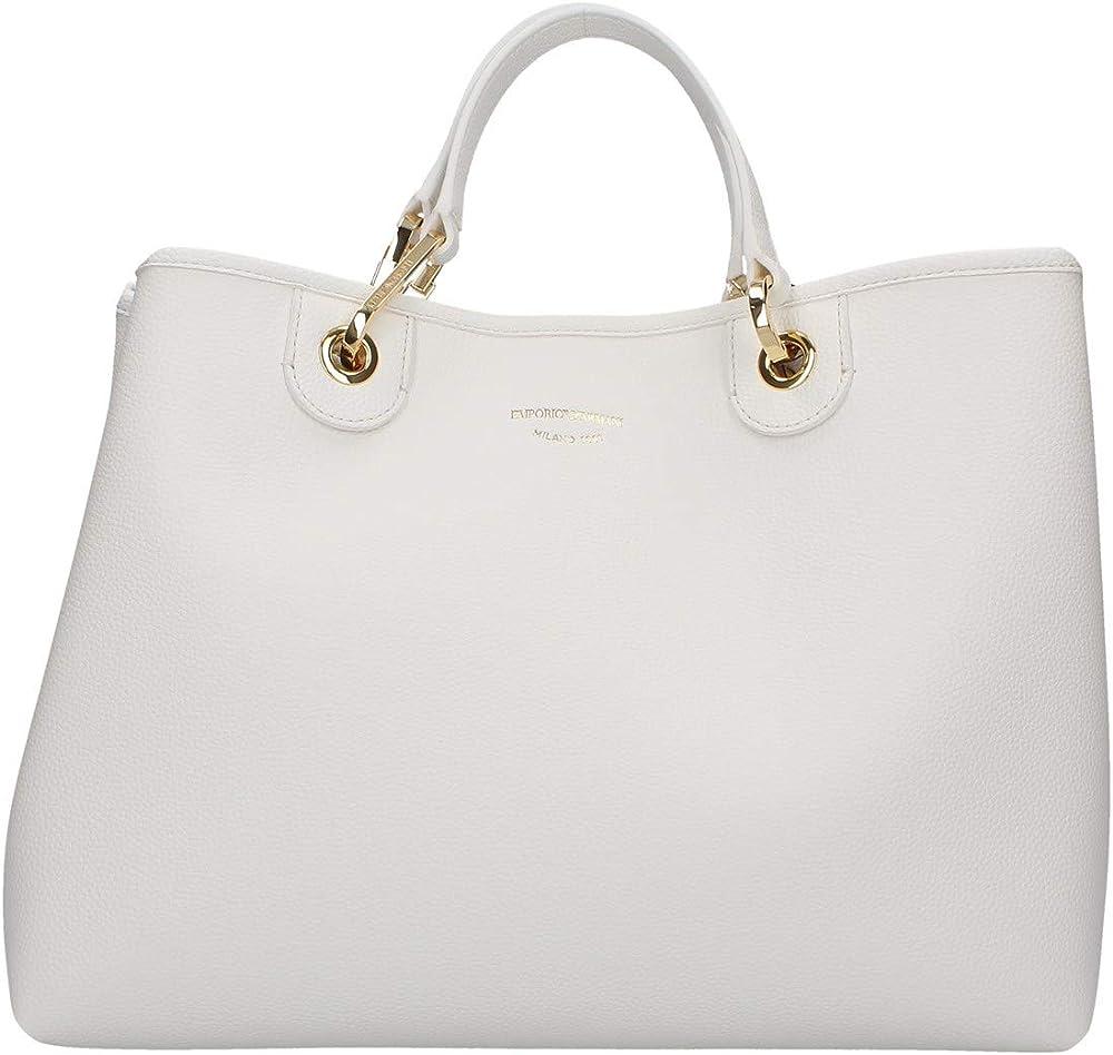Emporio armani, borsa per donna  a mano con tracolla logata, in ecopelle Y3D165 YFO5B 88481