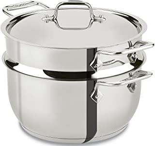 All-Clad E414S564 Stainless Steel Steamer Cookware, 5-Quart, Silver - 2100078498