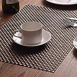 EKRPN Tovaglietta Antiusura PVC Isolamento Plastique Napperons Vinyle Tissé Dîner Imposta De Table Décoratifs di Cucina Adatto per la Manutenzione dei tavoli (Color : 3 Mixed)