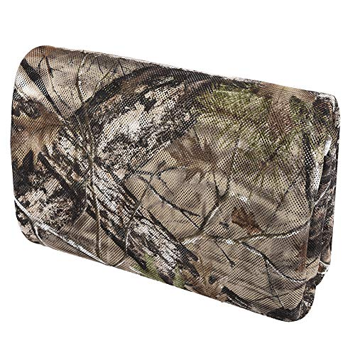 Camo Burlap Blind Material, LOOGU Camo Netting Cover 56 inch x 13 Feet for Hunting Ground Blinds, Tree Stands, Duck Blinds