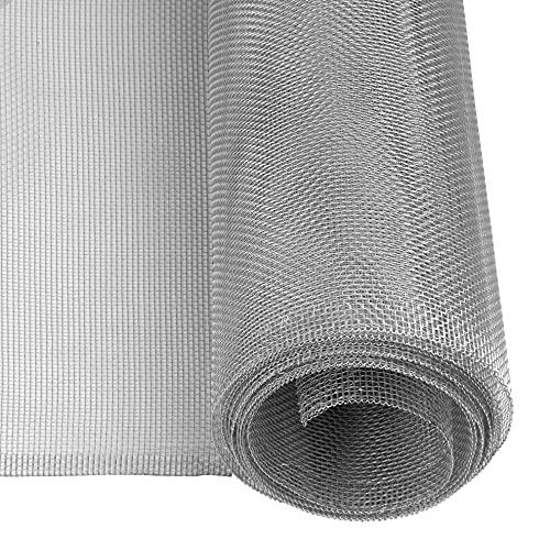 Windhager Aluminium Insektenschutz Fliegengitter Gewebe Alu-Gitter, ideal auch für Lichtschächte, robust, widerstandsfähig, zuverlässiger Schutz, Silber, 100 x 250 cm,...
